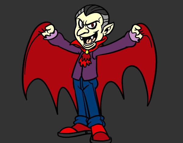Dibujo de El vampiro pintado por Laperez en Dibujosnet el da 13