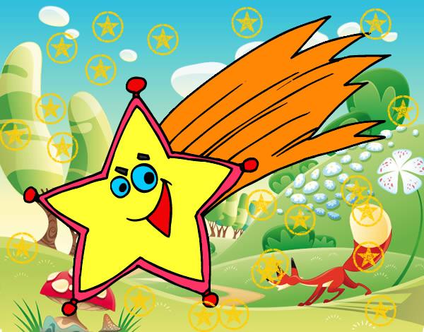 Dibujo de estrella fugaz pintado por aylinasly en dibujos - Dibujos navidad en color ...
