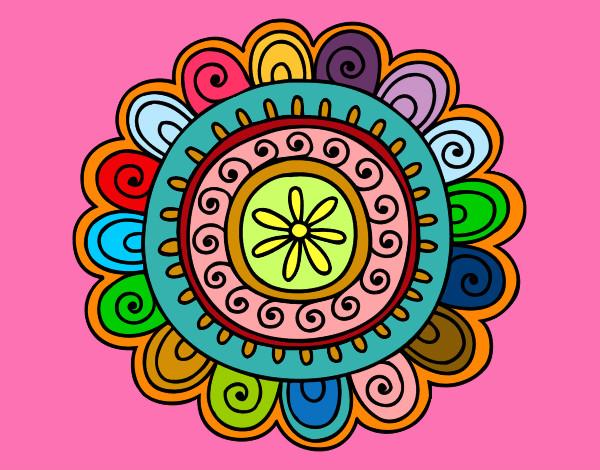 Mandalas ya pintados de colores imagui - Colores para mandalas ...