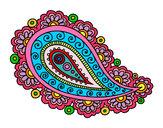 Dibujo Mandala lágrima pintado por linda3599