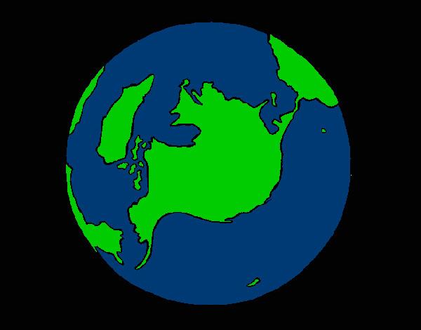 Dibujo de mi planeta pintado por Peluche13 en Dibujosnet el da