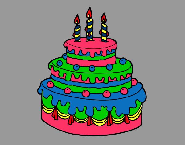 Dibujo de torta de cumple años para luciana carreño ...