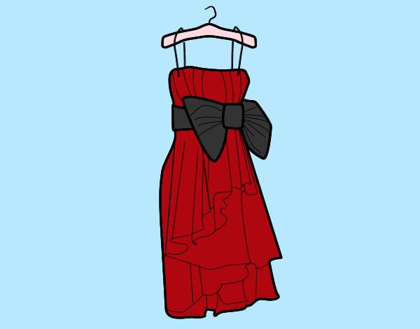 Dibujo de Un vestido de noche. pintado por Jessica23 en Dibujos ...