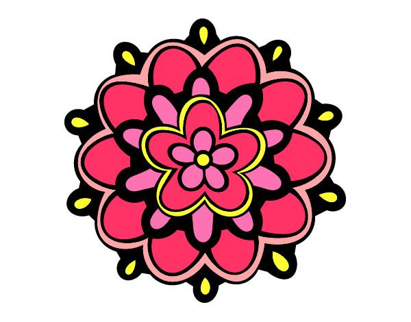 Flores En Dibujo A Color: Una Flor Dibujo Con Color