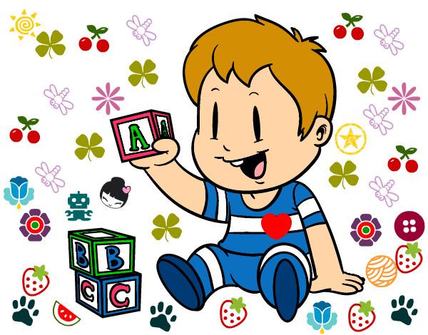 Dibujo de ni o con piezas pintado por emialonsi en dibujos for Dibujos infantiles pintados