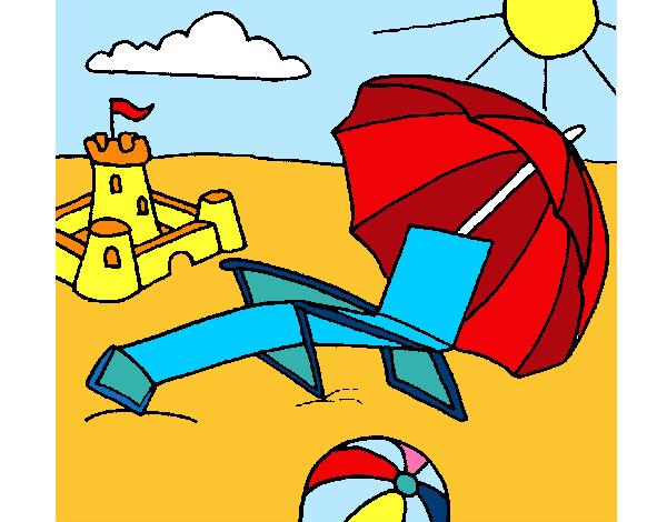 Dibujo de Paisaje de playa pintado por Manuel99 en Dibujosnet el