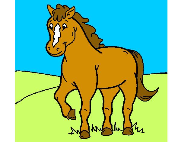 Dibujo de caballo 4 pintado por Martinase en Dibujosnet el da