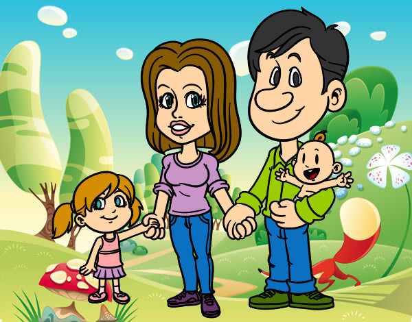 Dibujo de Familia de paseo pintado por Maitzayn27 en Dibujosnet