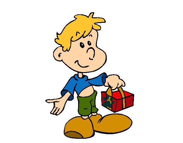 Dibujo de Niño con regalo rojo pintado por Arturinmys en Dibujos.net ...