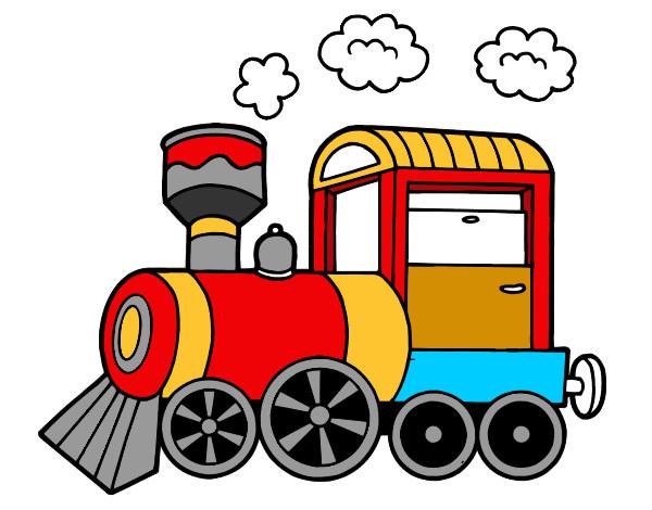 Dibujo De Tren Pintado Por Martinluna En Dibujos Net El