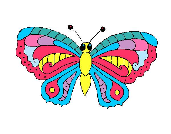 Dibujos De Mariposas Infantiles A Color: Dibujo De Maripoita Pintado Por Soledadd En Dibujos.net El
