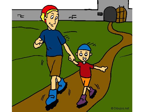 Dibujo de un paseo por el parque pintado por Saritard en Dibujos