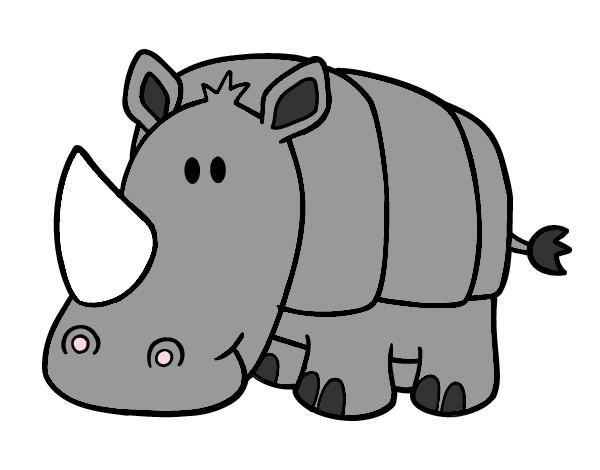 Dibujo Animado Rinoceronte Dibujo de Rinoceronte Coso