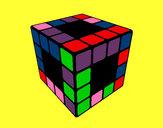 Dibujo Cubo de Rubik pintado por Mejorarte