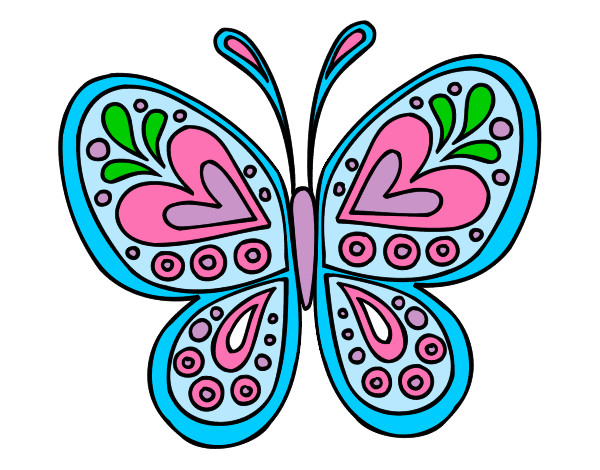 Dibujos Bonitos De Colores: Mariposa Dibujo Color Animada