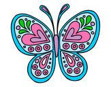 Dibujo Mandala mariposa pintado por aderlis