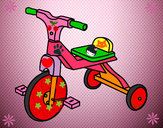 Dibujo Triciclo infantil pintado por zoe081109