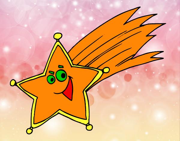 Dibujo de estrella fugaz pintado por esti8 en for Estrella fugaz navidad