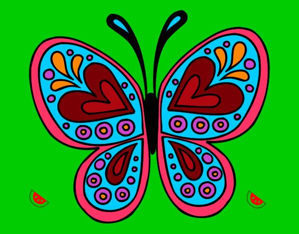 Dibujo De Mariposa De La Mujer Pintado Por Marrauis En