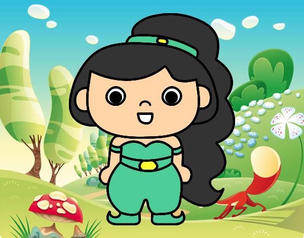 Princesas Disney Dibujos Para Colorear De Jasmín: Jasmine Arte Dibujos T Princesa Jazmn Princesas Y
