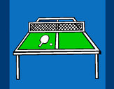 Dibujo Tenis de mesa 1 pintado por javian