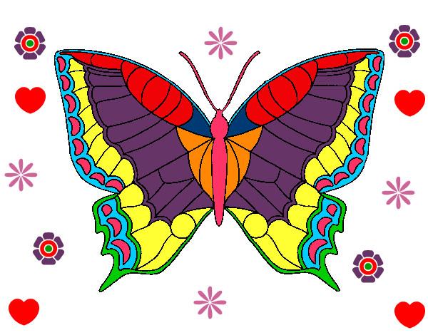 Dibujos De Mariposas Infantiles A Color: Dibujo De La Mariposa . Pintado Por Tanias17 En Dibujos