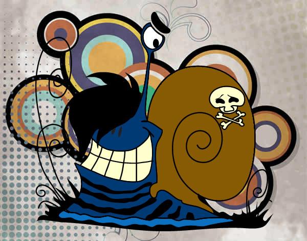 Dibujo De Caracol Emooooo Pintado Por Malefica En Dibujos