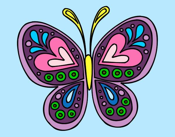 Dibujo De La Mariposa Q Ha Pasado La Metamorfosis Pintado Por