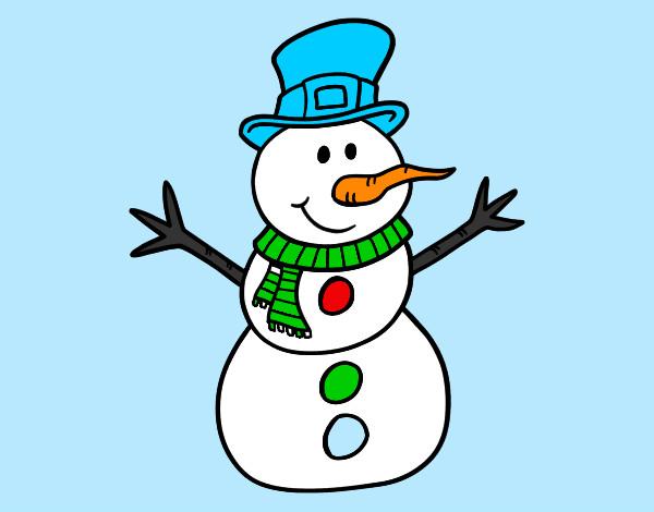 Dibujos de Muecos de nieve para Colorear  Dibujosnet
