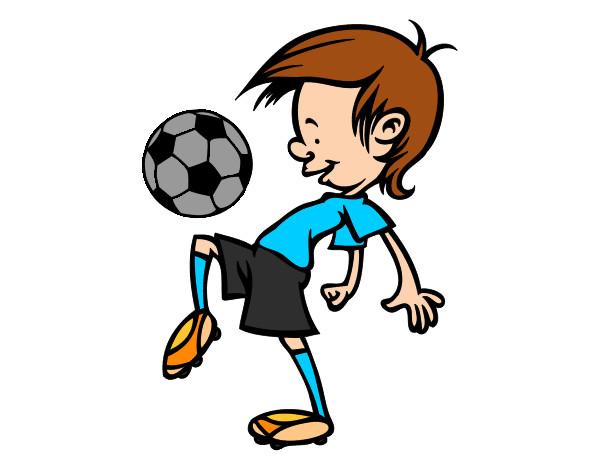 Dibujo De Jugador De Fútbol Con Balón Pintado Por Chicoxd: Pelota Niño Jugador Futbol Dibujos