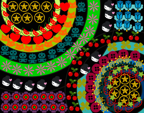 Dibujo De Mandala Con Muchos Tampones Pintado Por Malefica