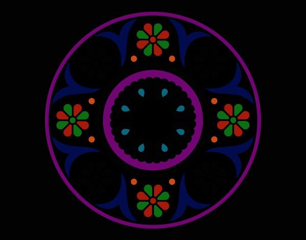 Dibujo De Mandala De Colores Oscuros Pintado Por Malefica