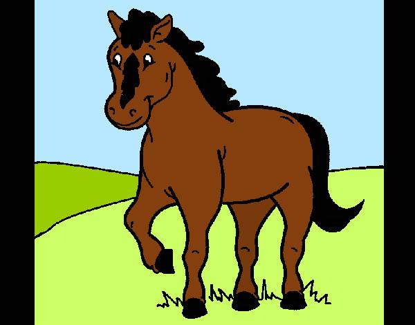 Dibujo de caballo 4 pintado por charito en el - Dibujos de gatos pintados ...