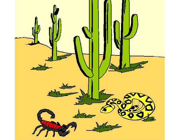 Dibujo de Desierto pintado por Charito en Dibujos.net el día 20-04 ...