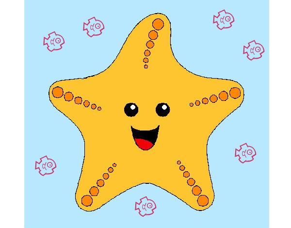 Dibujos de Estrellas de mar para Colorear  Dibujosnet