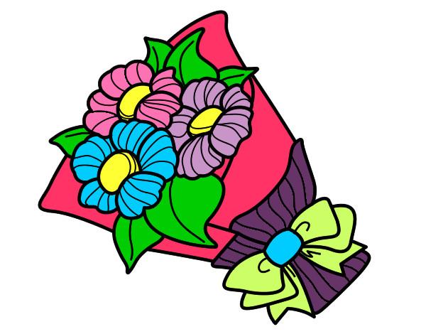 Dibujo de Ramo de margaritas pintado por Karisss en Dibujosnet el