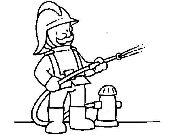 Dibujo de Bombero 1 pintado por Pepowen en Dibujosnet el da 01