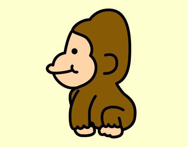 Dibujos de Gorilas para Colorear  Dibujosnet
