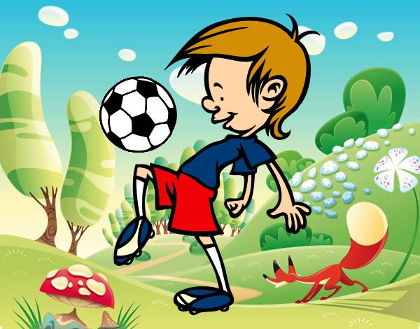 Dibujo De Jugador De Fútbol Con Balón Pintado Por Chicoxd: Dibujo De Toques Con El Balón Pintado Por Joramigo En