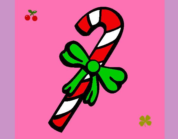 Dibujo de bastón de caramelo pintado por Deelfi en Dibujos.net el ...