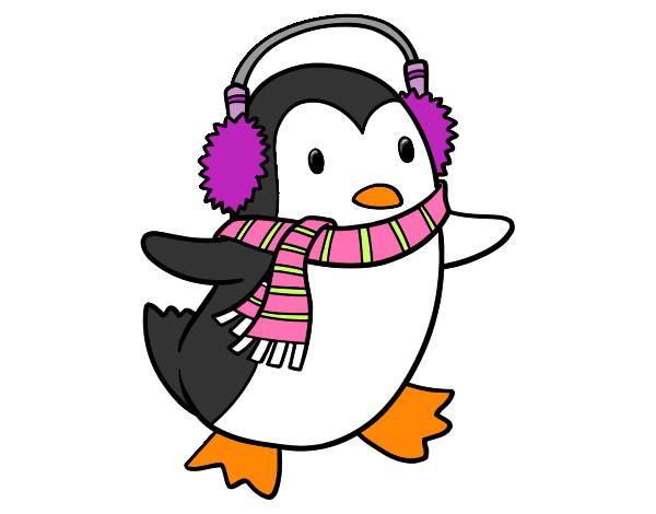 Dibujo de Pingüino con bufanda pintado por 123valen en Dibujos.net ...