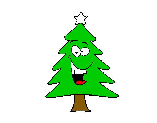 Dibujo de rbol navidad pintado por crystal45 en dibujos for Dibujo arbol navidad