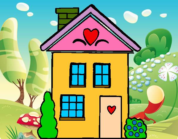 Dibujo de casita pintado por elisabet10 en el d a 14 05 13 a las 18 07 11 imprime - Imagenes infantiles de casas para colorear ...