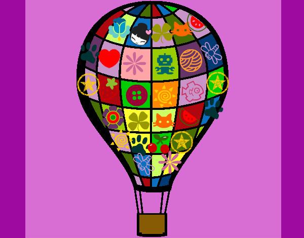 Worksheet. Dibujo de Globo aerosttico pintado por Primitiva en Dibujosnet