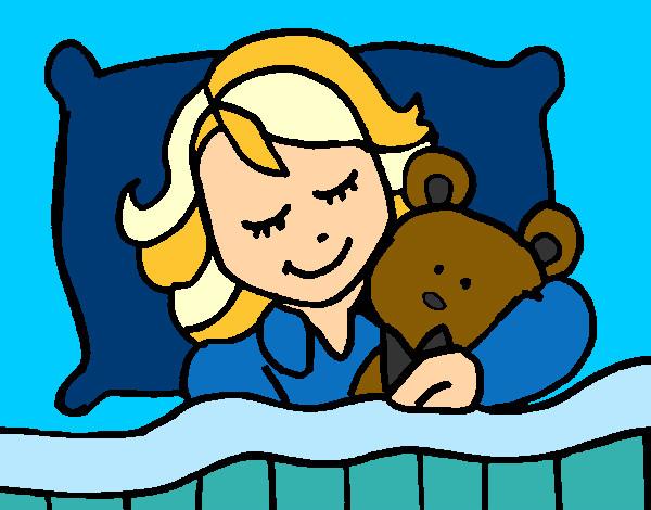 Dibujo De Niña Durmiendo Pintado Por Charito En Dibujos