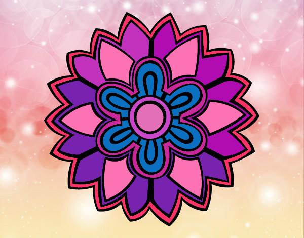 Mándala con forma de flor weiss