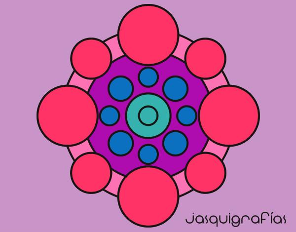 Mandala con redondas