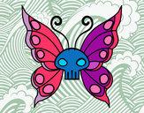 Dibujo Mariposa Emo pintado por maitena