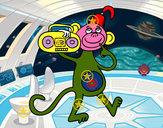 Dibujo Mono de circo pintado por amy2009