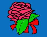 Dibujo Rosa, flor pintado por maitena
